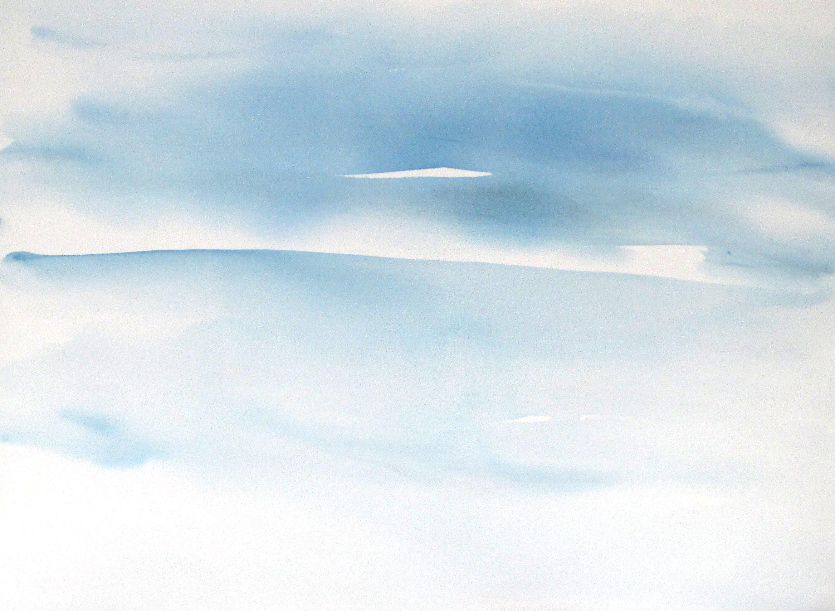 modern abstract seascape watercolor