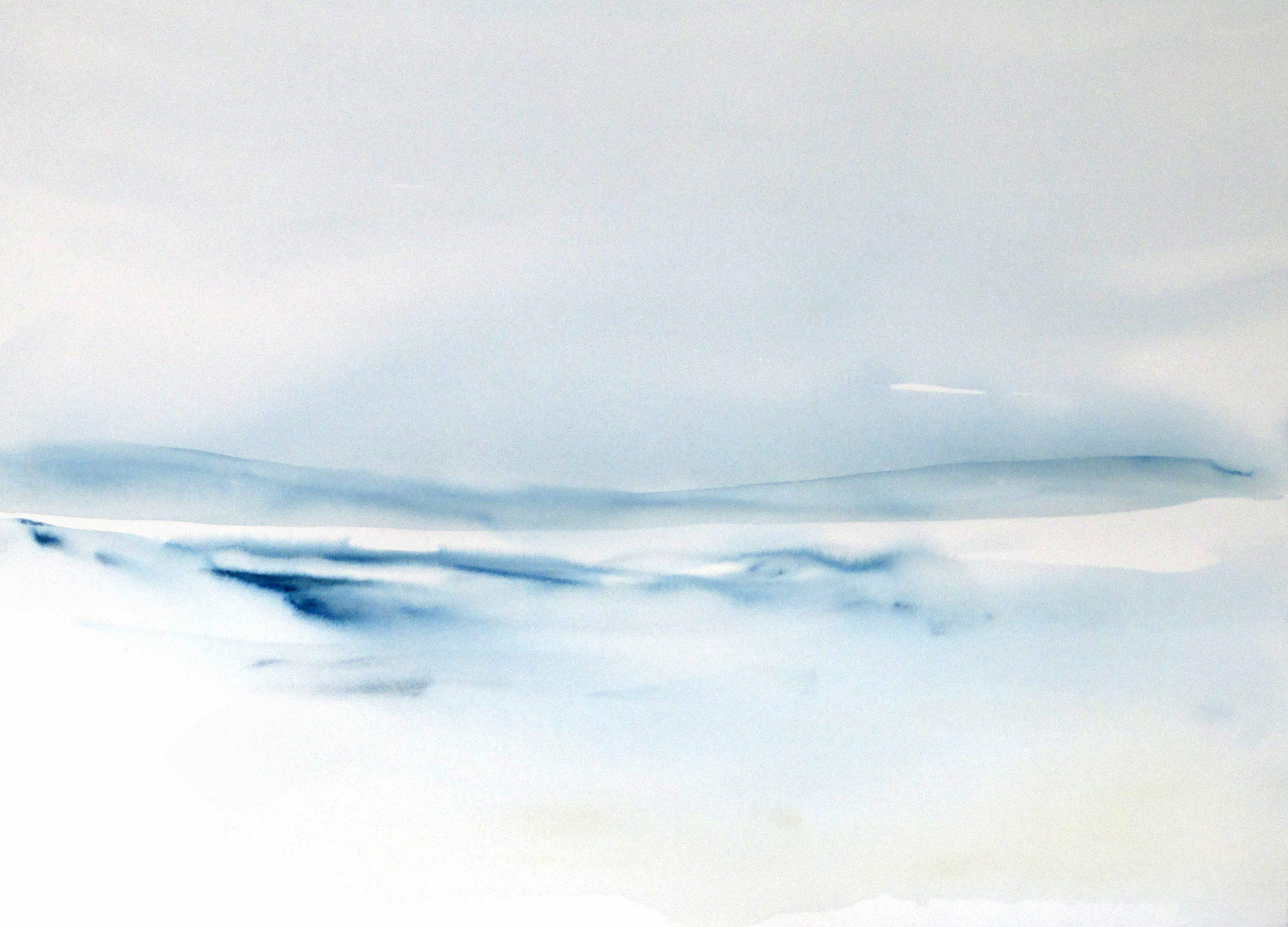 original abstract watercolor seascape painting