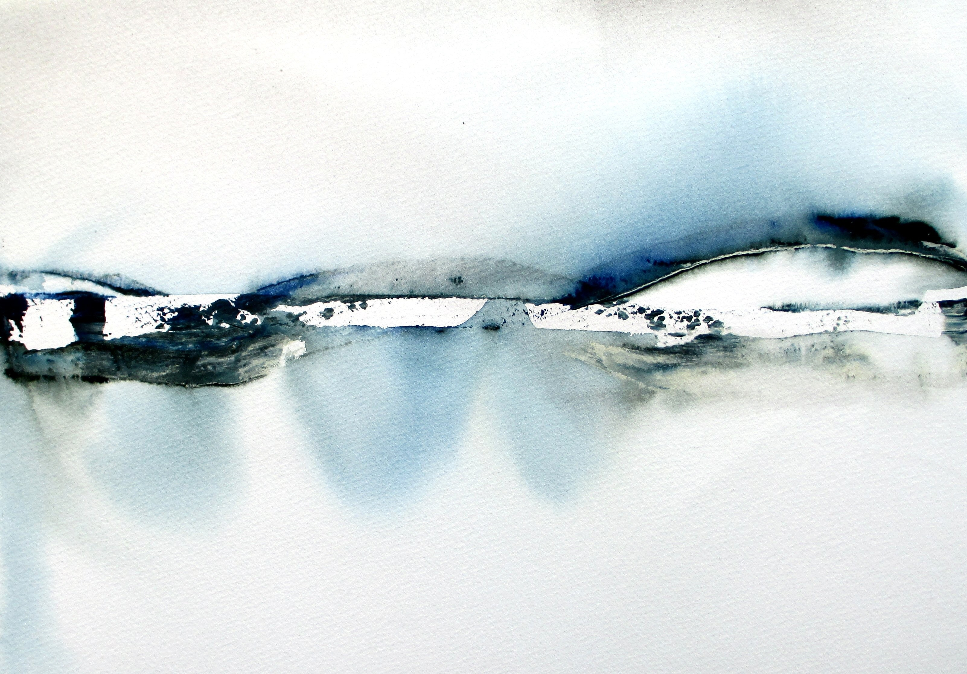 original country modern abstract landscape watercolor