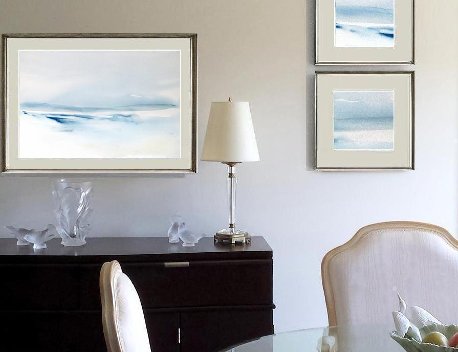 modern seascape watercolor painting