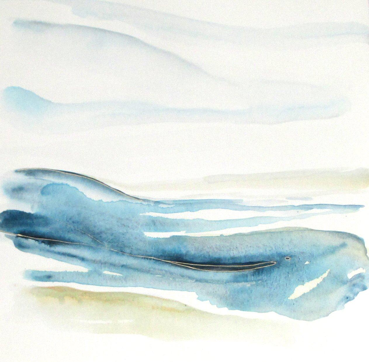 contemporary abstract seascape watercolor