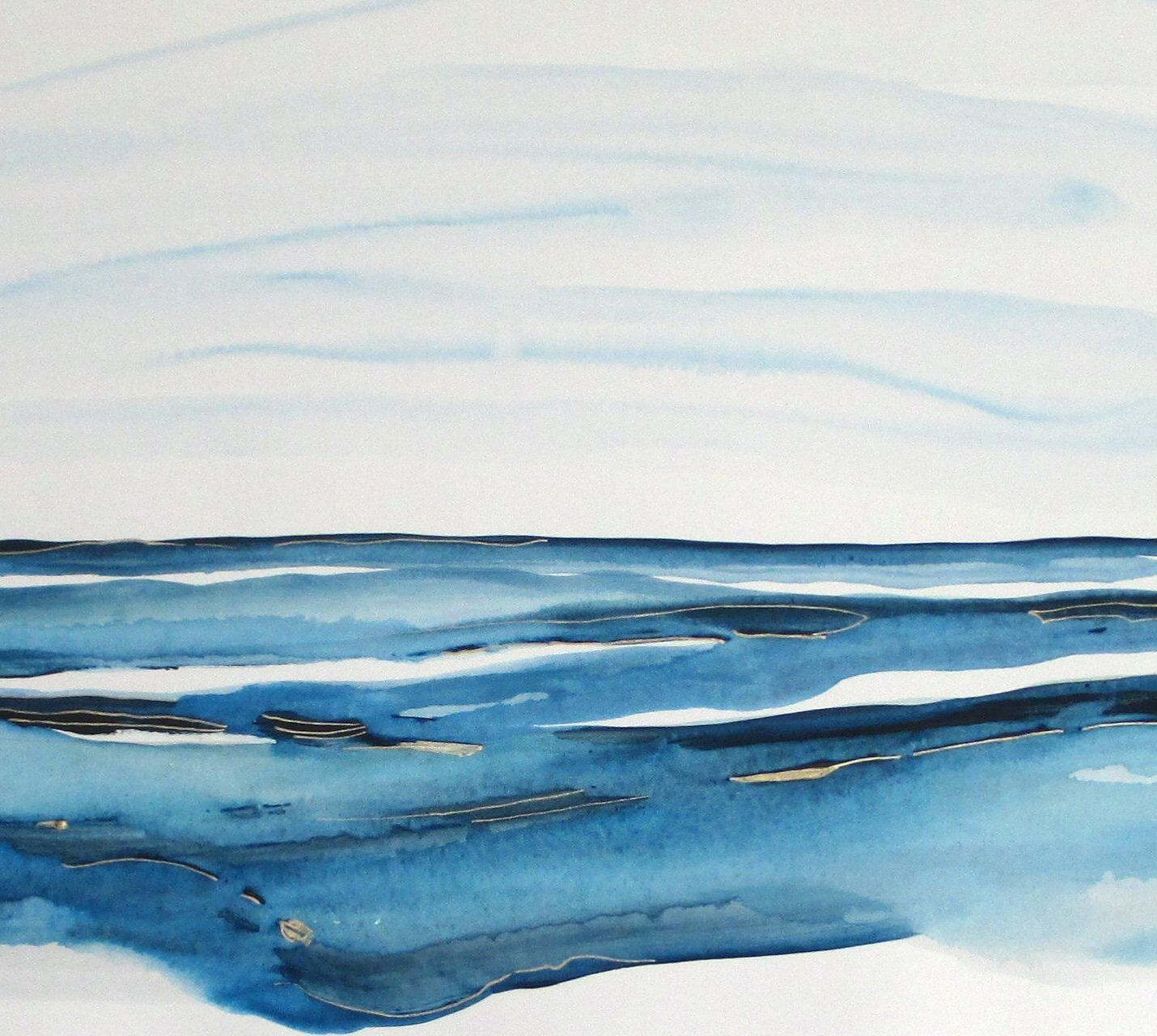 contemporary seascape watercolor