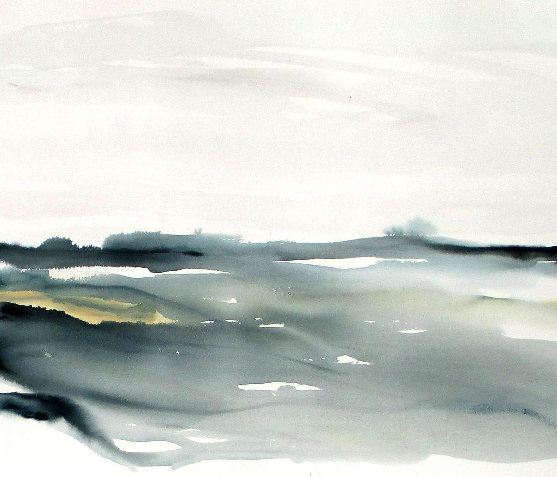 modern seascape watercolor