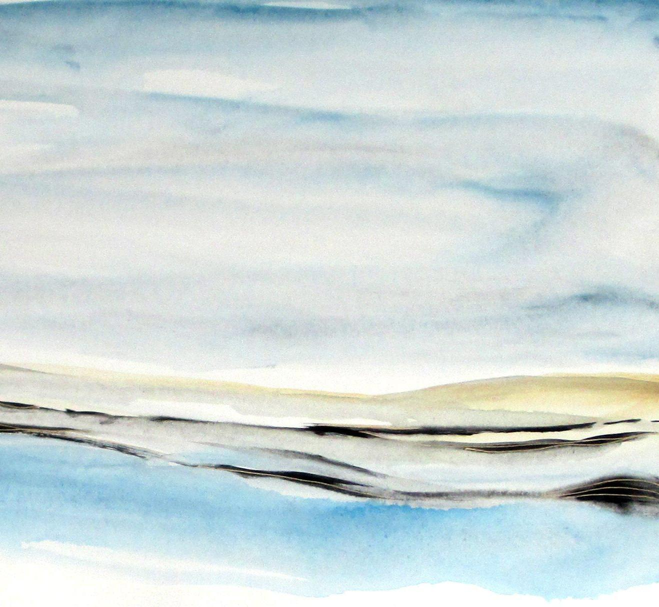abstract watercolor seascape painting