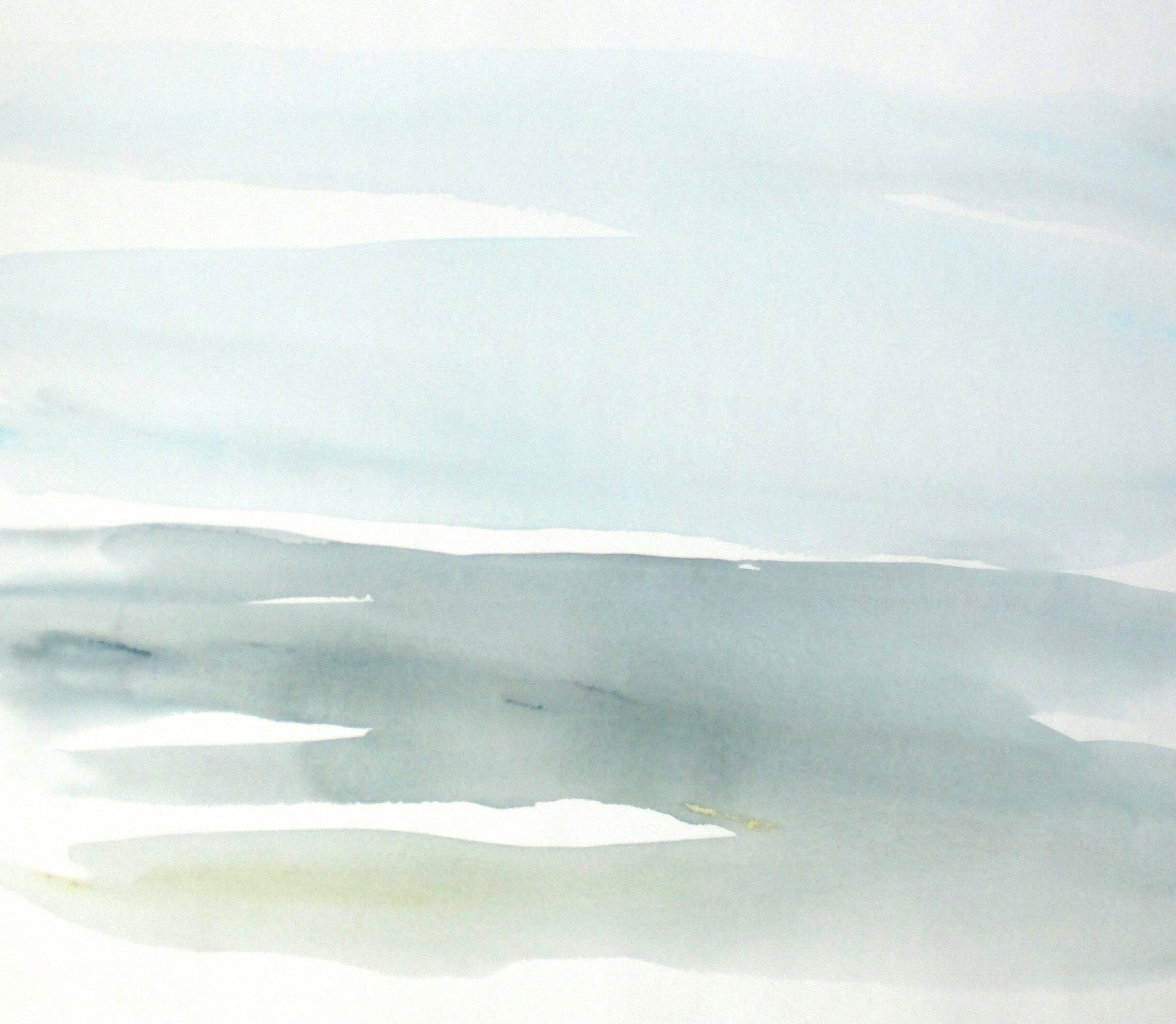 large original abstract landscape watercolor