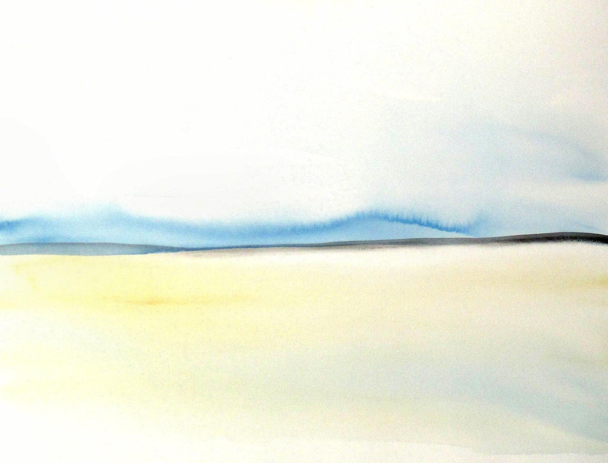 contemporary landscape watercolor