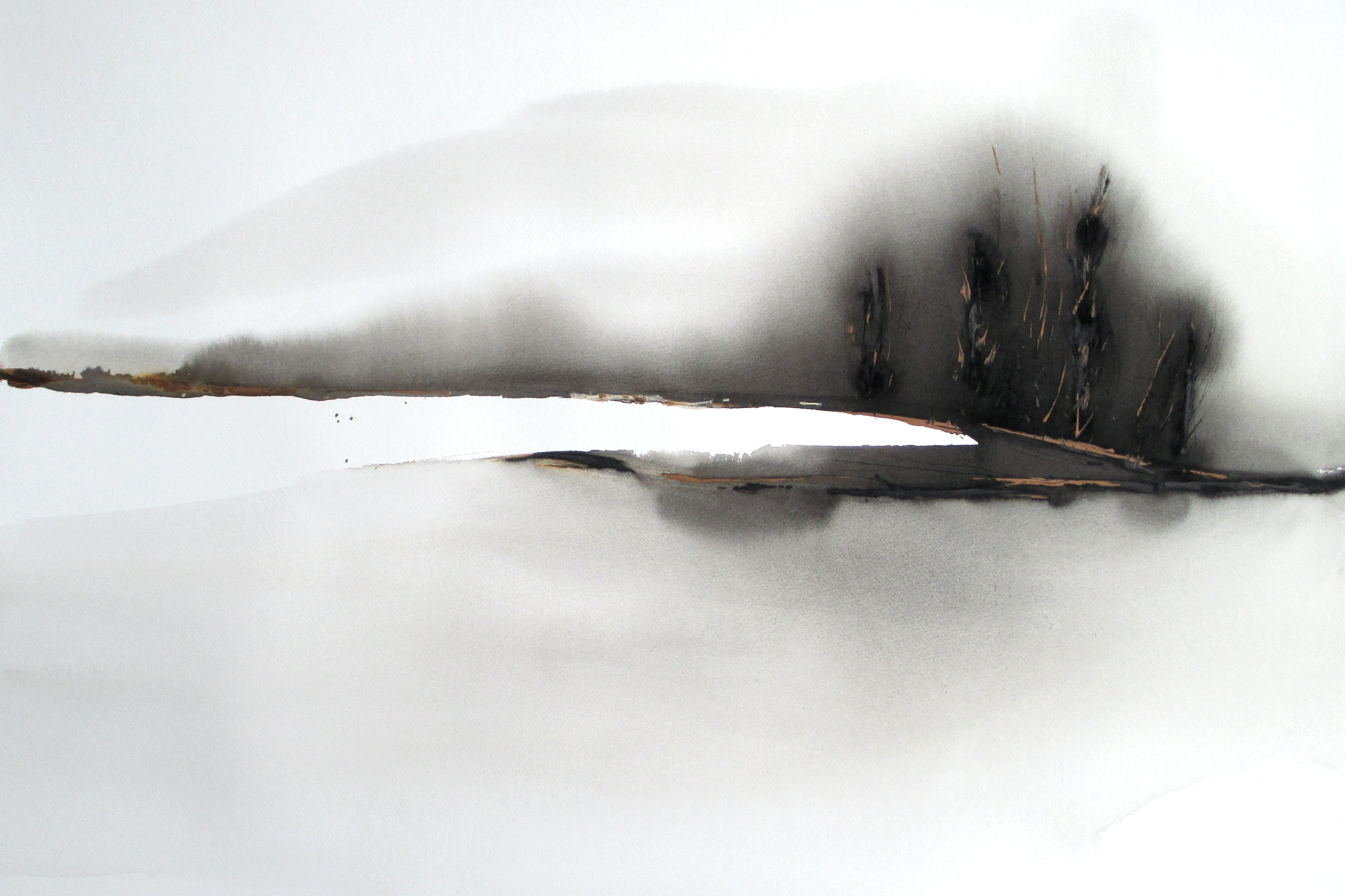 minimalist abstract landscape watercolor